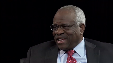 Justice Clarence Thomas on the Supreme Court